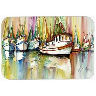 Caroline's Treasures Shrimp Fleet Kitchen/Bath Mat; 20'' H x 30'' W x 0.25'' D