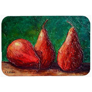 Caroline's Treasures Pears Kitchen/Bath Mat; 24'' H x 36'' W x 0.25'' D