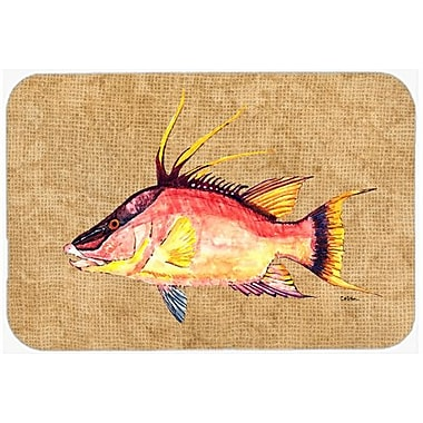 Caroline's Treasures Hog Snapper Kitchen/Bath Mat; 20'' H x 30'' W x 0.25'' D