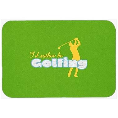 Caroline's Treasures I'd Rather Be Golfing Man Kitchen/Bath Mat; 24'' H x 36'' W x 0.25'' D