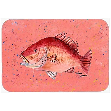 Caroline's Treasures Strawberry Snapper Kitchen/Bath Mat; 24'' H x 36'' W x 0.25'' D
