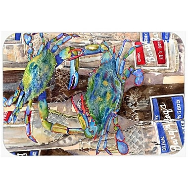 Caroline's Treasures Crabby Bottles Of Barqs Rootbeer Kitchen/Bath Mat; 24'' H x 36'' W x 0.25'' D