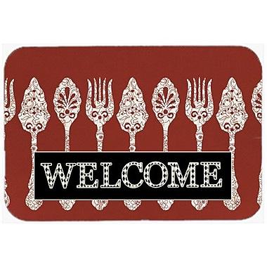 Caroline's Treasures Serving Spoons Welcome Kitchen/Bath Mat; 20'' H x 30'' W x 0.25'' D