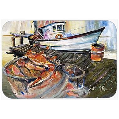 Caroline's Treasures Crab Trap Kitchen/Bath Mat; 20'' H x 30'' W x 0.25'' D