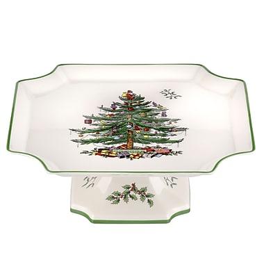 Spode Christmas Tree Serve 11'' Footed Cake Plate