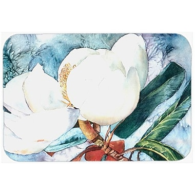Caroline's Treasures Flower Magnolia Kitchen/Bath Mat; 20'' H x 30'' W x 0.25'' D