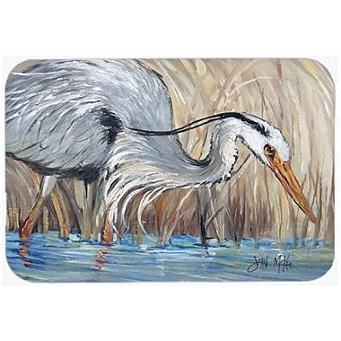 Caroline's Treasures Heron The Reeds Kitchen/Bath Mat; 24'' H x 36'' W x 0.25'' D