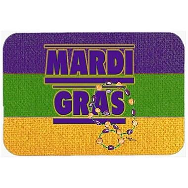 Caroline's Treasures Mardi Gras Kitchen/Bath Mat; 20'' H x 30'' W x 0.25'' D