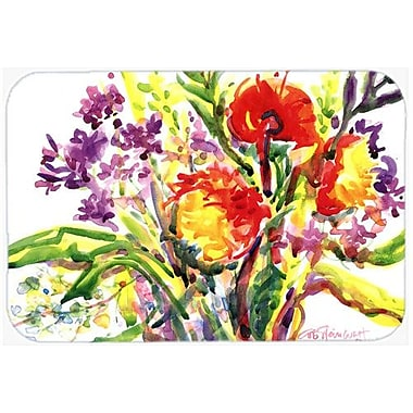 Caroline's Treasures Flower Kitchen/Bath Mat; 20'' H x 30'' W x 0.25'' D