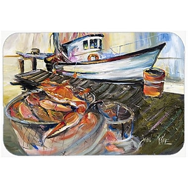 Caroline's Treasures Crab Trap Kitchen/Bath Mat; 24'' H x 36'' W x 0.25'' D