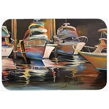 Caroline's Treasures Sea Chase Deep Sea Fishing Boats Kitchen/Bath Mat; 24'' H x 36'' W x 0.25'' D