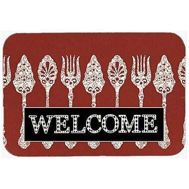 Caroline's Treasures Serving Spoons Welcome Kitchen/Bath Mat; 24'' H x 36'' W x 0.25'' D