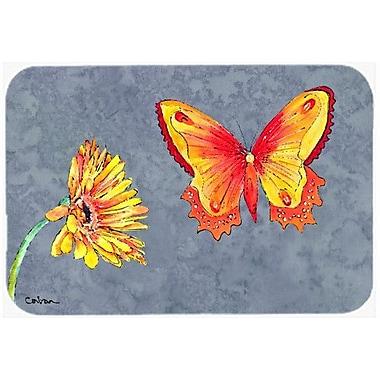 Caroline's Treasures Gerber Daisy and Buttefly Kitchen/Bath Mat; 20'' H x 30'' W x 0.25'' D