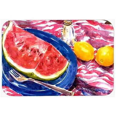 Caroline's Treasures Watermelon Kitchen/Bath Mat; 24'' H x 36'' W x 0.25'' D