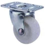 MINTCRAFT 1.63in White and Zinc Plate Caster (ORGL38835)