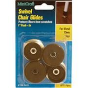 mintcraft 1in brass swivel chair glide orgl36053