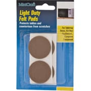 "Mintcraft 0.87"" Light Duty Brown Felt Pads (ORGL35985)"
