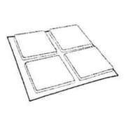 "Mintcraft FE-50227 1"" x 1"" Light Duty White Felt Pads (ORGL35988)"