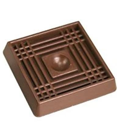 Mintcraft FE,S711 Brown Rubber Caster Cup, 2 x 2 In. 1877906