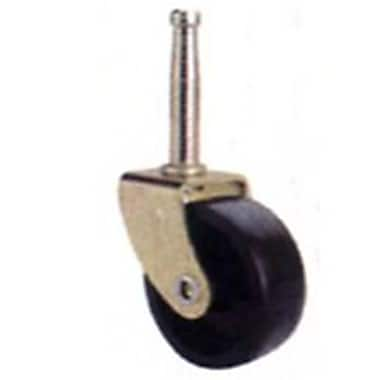 MintCraft 2in Black and Brass Stem Caster (ORGL38841)