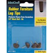 MintCraft Black Rubber Leg Tip, 0.5in (ORGL36035)