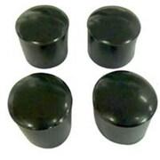 MINTCRAFT 1.13in Plastic Leg Tips, Black (ORGL36083)