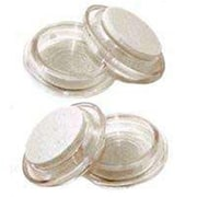 MintCraft Round Clear Felt Caster Cup, 2.38in