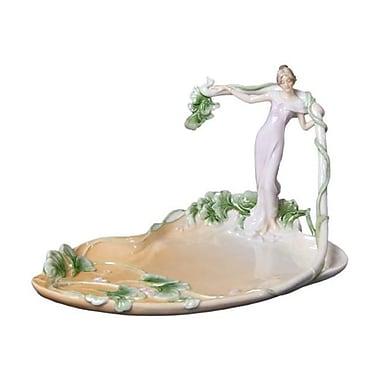 Unicorn Studios AP20018AA Standing Woman with Vine Porcelain Tray