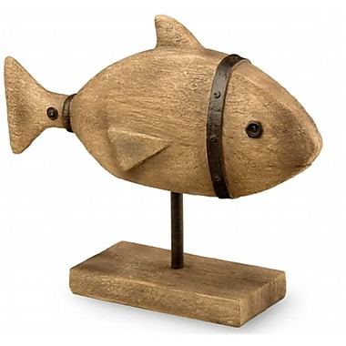 Boston International TM14162 9.75 in. Brown Fish Decoy Statuary Home Accent