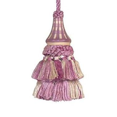 123 Creations Hand Painted Tassel, Lilac Checks (CREATE737)