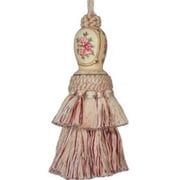 "123 Creations Hand Painted Annie Tassel, 6""L, Cream (CREATE740)"