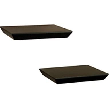 Knape & Vogt Two Floating Decor Shelves, Black (ORGL213)