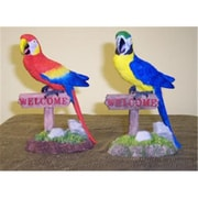 Goldfarb-Fisher Novelty Macaw on 5.5in Welcome Sign, 2/Pack (RNRDST3332)