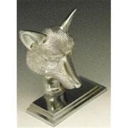Mayer Mill Brass Fox Book Ends, Chrome, Pair (MYRMB595)