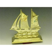 Mayer Mill Brass Sail Boat Book Ends, Pair (MYRMB558)