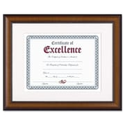 "DAX Prestige 11"" x 14"" Document Frame, Matted w/Certificate, Walnut/Black (AZDAXN3028S1T)"