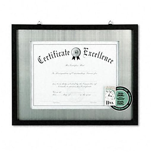 Dax 11 X 14 Contemporary Wood Documentcertificate Frame Silver