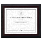 "Dax Award/Certificate Frame, 8""H x 10""L, Solid Wood, Black with Walnut Trim AZRDAXN19880BT"