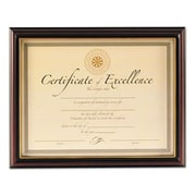 """Dax Manufacturing Inc. 10"""" x 12-1/2"""" Wood Document Frame, Black and Rosewood (AZERTY18437)"""