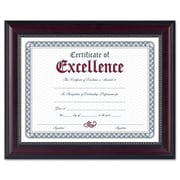 "DAX Prestige 8-1/2"" x 11"" Rosewood/Black Document/ Certificate Frame with Gold Accents, AZDAXN3028N2T"