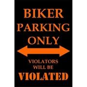 Smart Blonde Biker Parking Only Parking Signs (SMRTB2604)