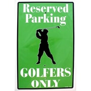 """Smart Blonde 12"""" x 18"""" Sign """"Golfers Only Reserved"""" (SMRTB170)"""