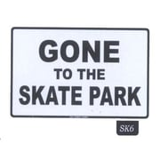 "Seaweed Surf Co Gone to the Skate Park Sign, 12""H x 18""L, Aluminum (SURF122)"
