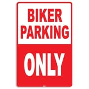 "Seaweed Surf Co Biker Parking Only Aluminum Sign, 12""W x 18""H (SURF192)"