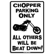 "Seaweed Surf Co 12"" x 18"" Aluminum Sign ""Chopper Parking Only"" (SURF193)"
