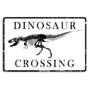 Seaweed Surf Co AA21 12X18 Aluminum Sign Dinosaur Crossing