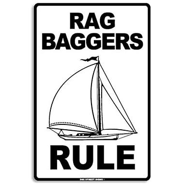 Seaweed Surf Co AA8 12X18 Aluminum Sign Rag Baggers Rule