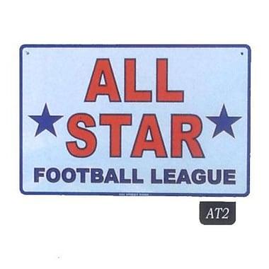 Seaweed Surf Co AT2 12X18 Aluminum Sign All Star Football League
