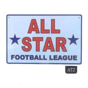 Seaweed Surf Co AT2 12X18 Aluminum Sign All Star Football League