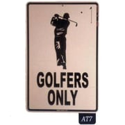 """Seaweed Surf Co 12"""" x 18"""" Aluminum Sign """"Golfers Only"""", White (SURF163)"""